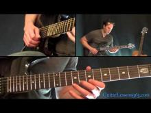 Embedded thumbnail for Metallica - One Guitar lesson 3